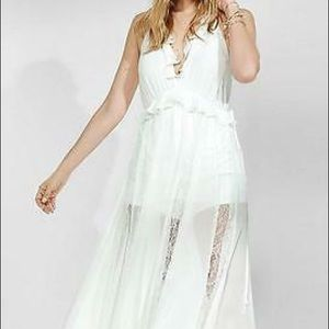 Express romper with maxi overlay